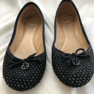 Tory Burch Black Sequin Flat Size 7
